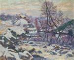 Ecluse des Bouchardonnes sous la neige