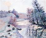 Frost. the Lock at Bouchardon. Crozant