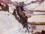 Landscape - the Creuse in the Snow