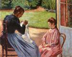 Madame Guillaumin and Her Daughter