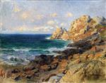 View of Brittany, Rocks by the Sea