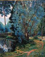 Woodland Landscape at the Pond