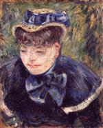 Young Woman with a Blue Cape and Scarf