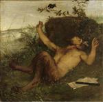 Faun Whistling to a Blackbird 1864-1865