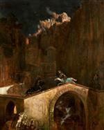 Fight on a Bridge 1882