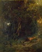 Forest Landscape with a Relaxing Pan