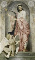 King David with the Harp