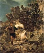 Pan Frightening a Shepherd