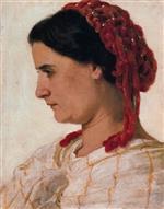 Portrait of Angela Bocklin in Red Fishnet