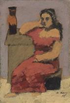 Seated Woman with Vase