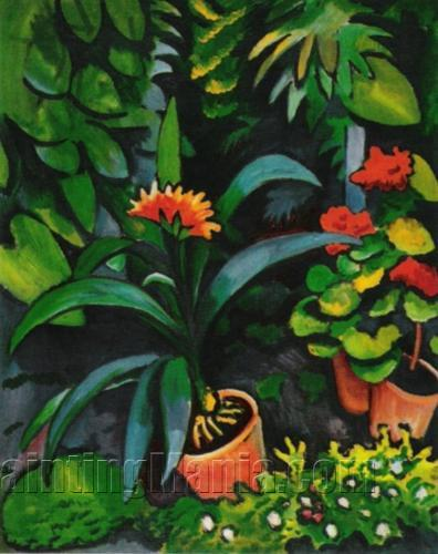 blumen im garten august macke paintings. Black Bedroom Furniture Sets. Home Design Ideas