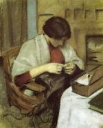 Elizabeth Gerhardt, Sewing (Girl Sewing)