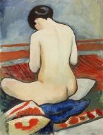Sitting Nude with Cushions (Sitzender Akt mit Kissen)