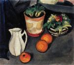 Still Life with Flowers and Milk Jug