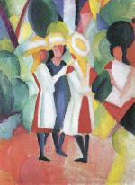 Three Girls in Yellow Straw Hats