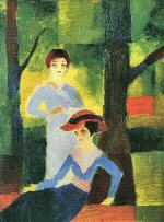 Two Girls in the Forest