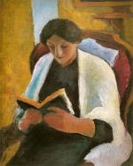 Woman Reading in Red Armchair (Lesende Frau im roten Sessel)