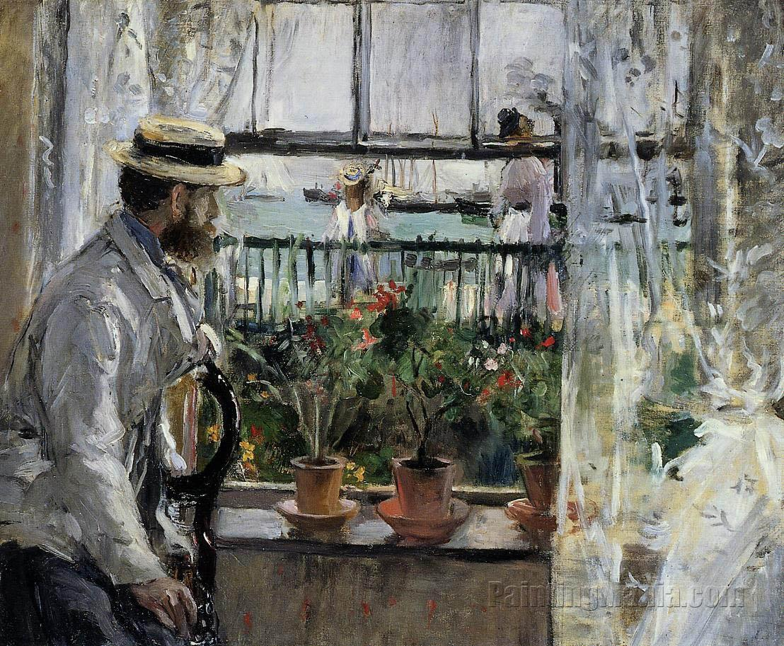 Eugene Manet (the Artist's Husband)  on the Isle of Wight