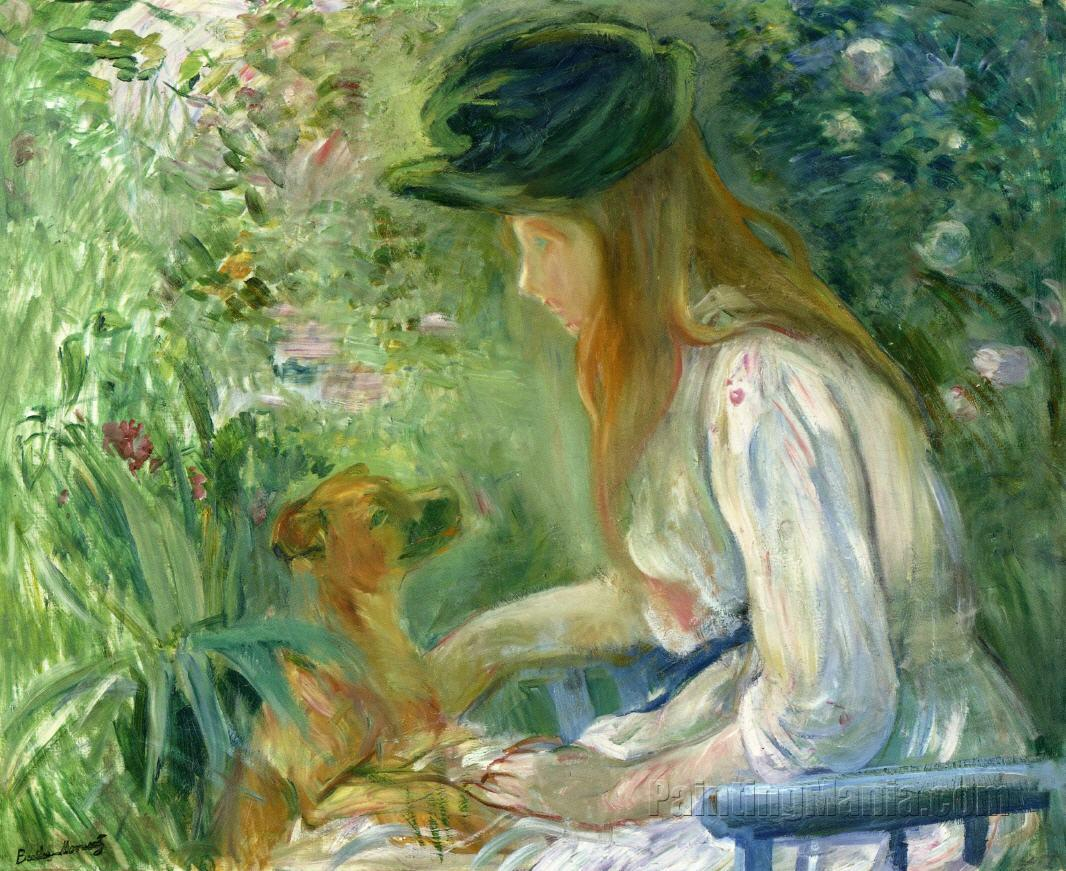 Girl with Dog 1892