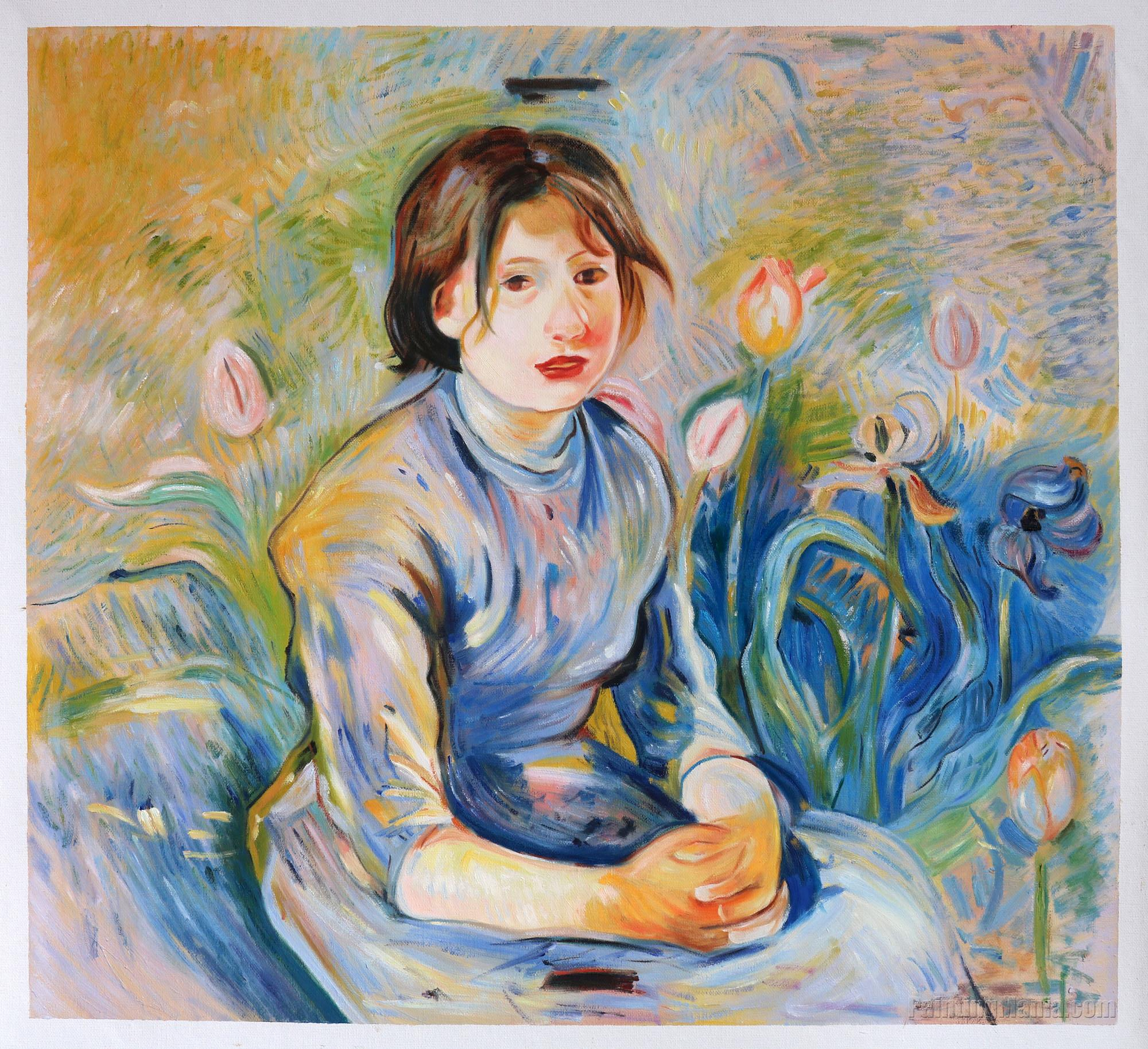 Peasant Girl among Tulips