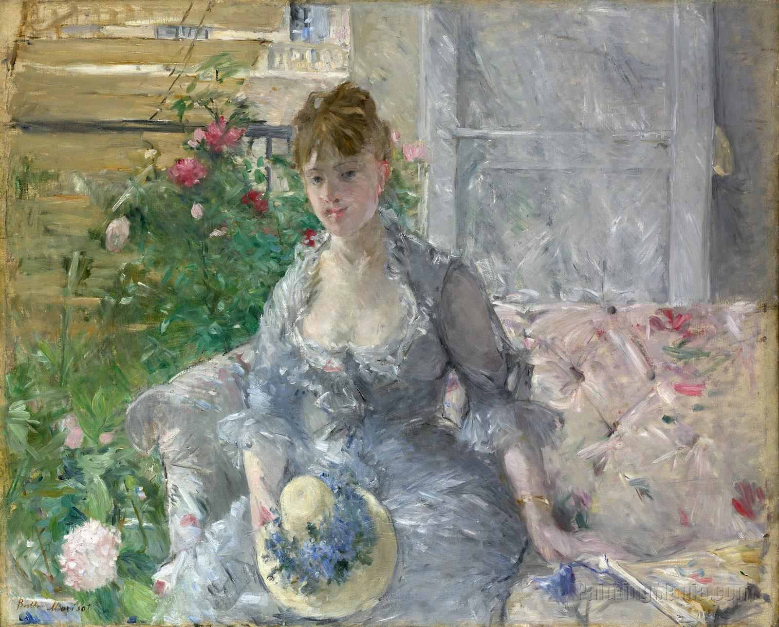 """Beautiful Oil painting nice young noblewomen portraits seated on sofa canvas 36/"""""""