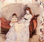 The Artist's Sister Edma with Her Daughter Jeanne