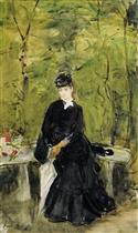 The Artist's Sister Edma Seated in a Park (Young Lady Seated on a Bench)