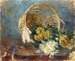 Chrysanthemums (Overturned Basket)