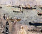 Harbor Scene, Isle Wight (English Seascape)