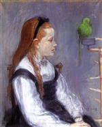Portrait de Mademoiselle M.T. (Young Girl with a Parrot)
