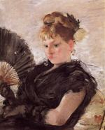Woman with a Fan (Head of a Girl)