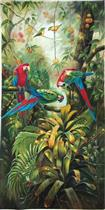 Beautiful Wild Parrots in Jungle Swamp Fruit Trees