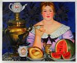 Mercahnt's Wife Drinking Tea
