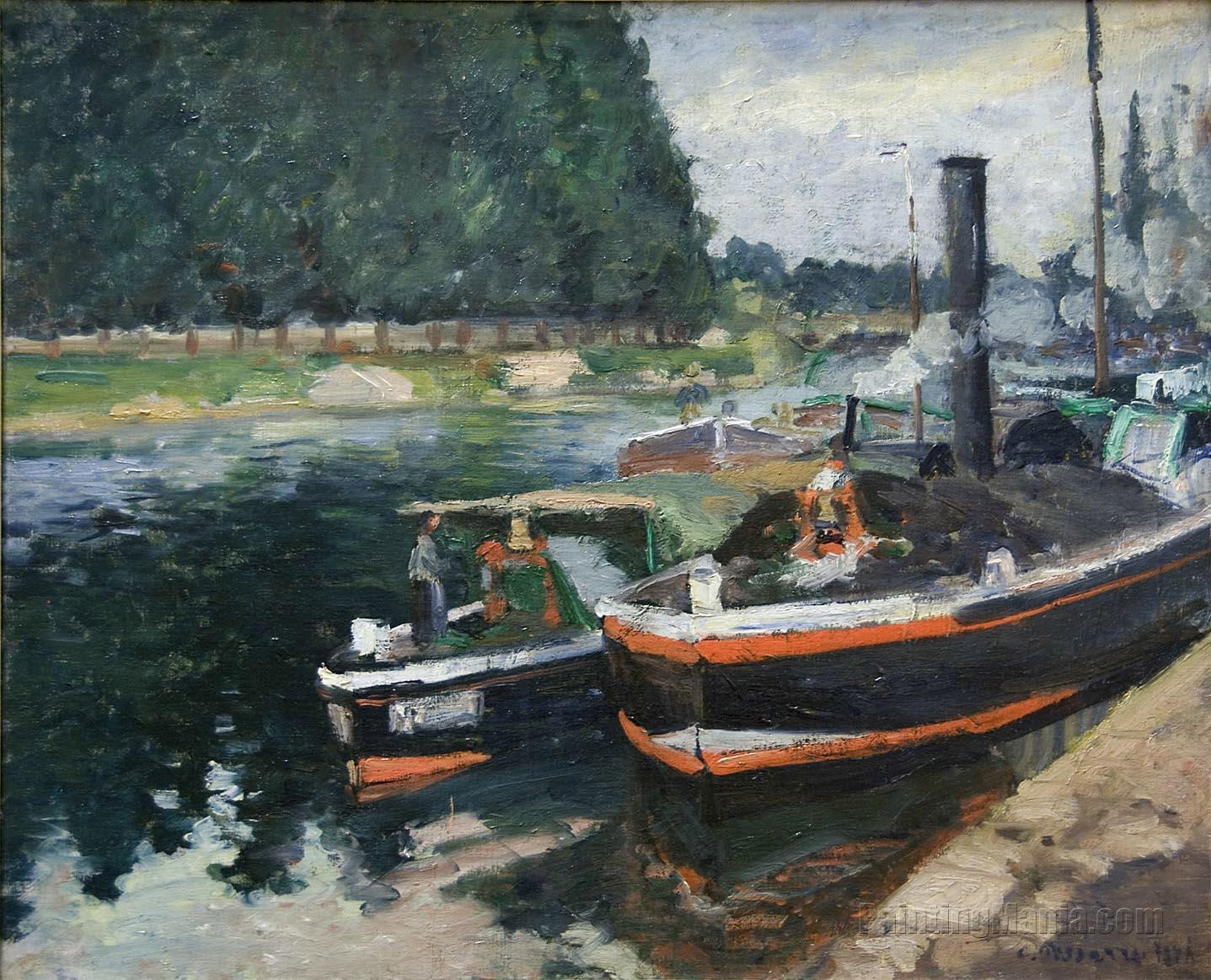 Barges on Pontoise
