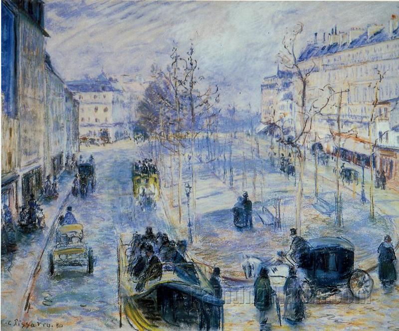 Boulevard de Clichy, Winter, Sunlight Effect