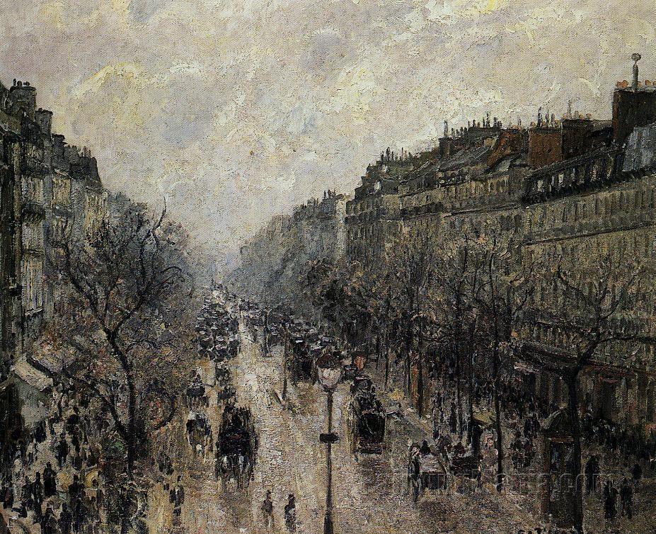 Boulevard Montmartre: Foggy Morning