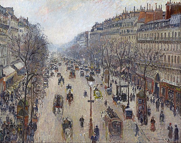 Boulevard Montmartre: Morning, Grey Weather