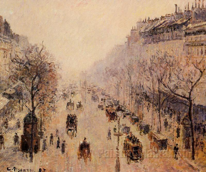 Boulevard Montmartre: Morning, Sunlight and Mist