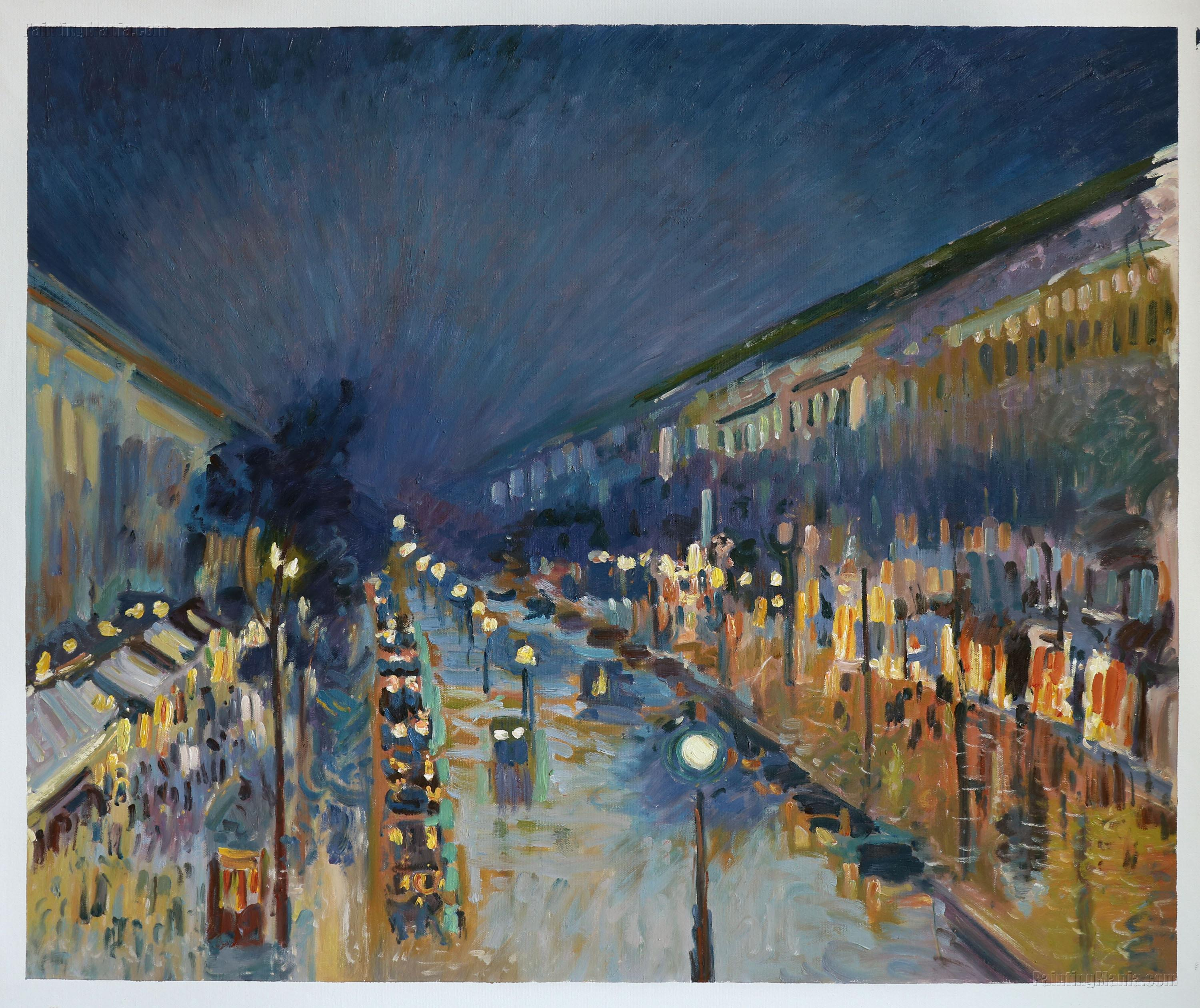 Boulevard Montmartre: Night Effect