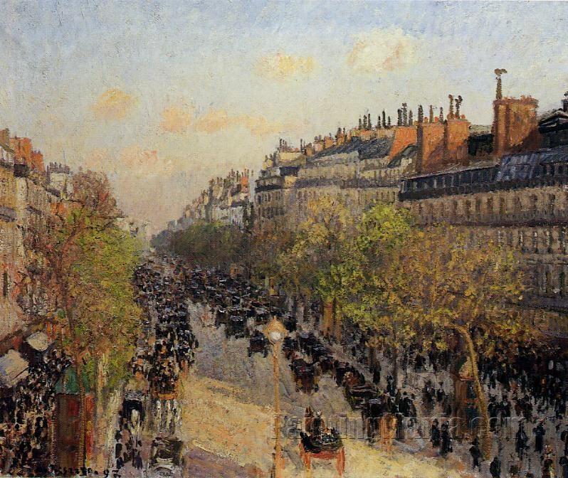 Boulevard Montmartre: Sunset