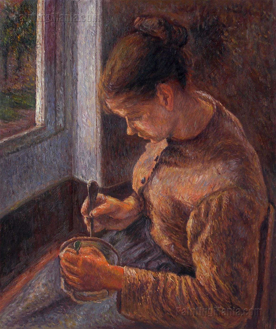 Breakfast, Young Peasant Woman Taking Her Coffee
