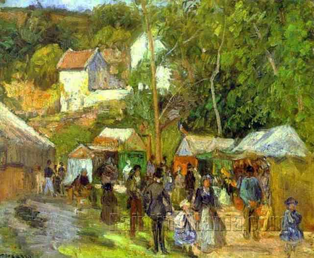 A Fair at l'Hermitage near Pontoise