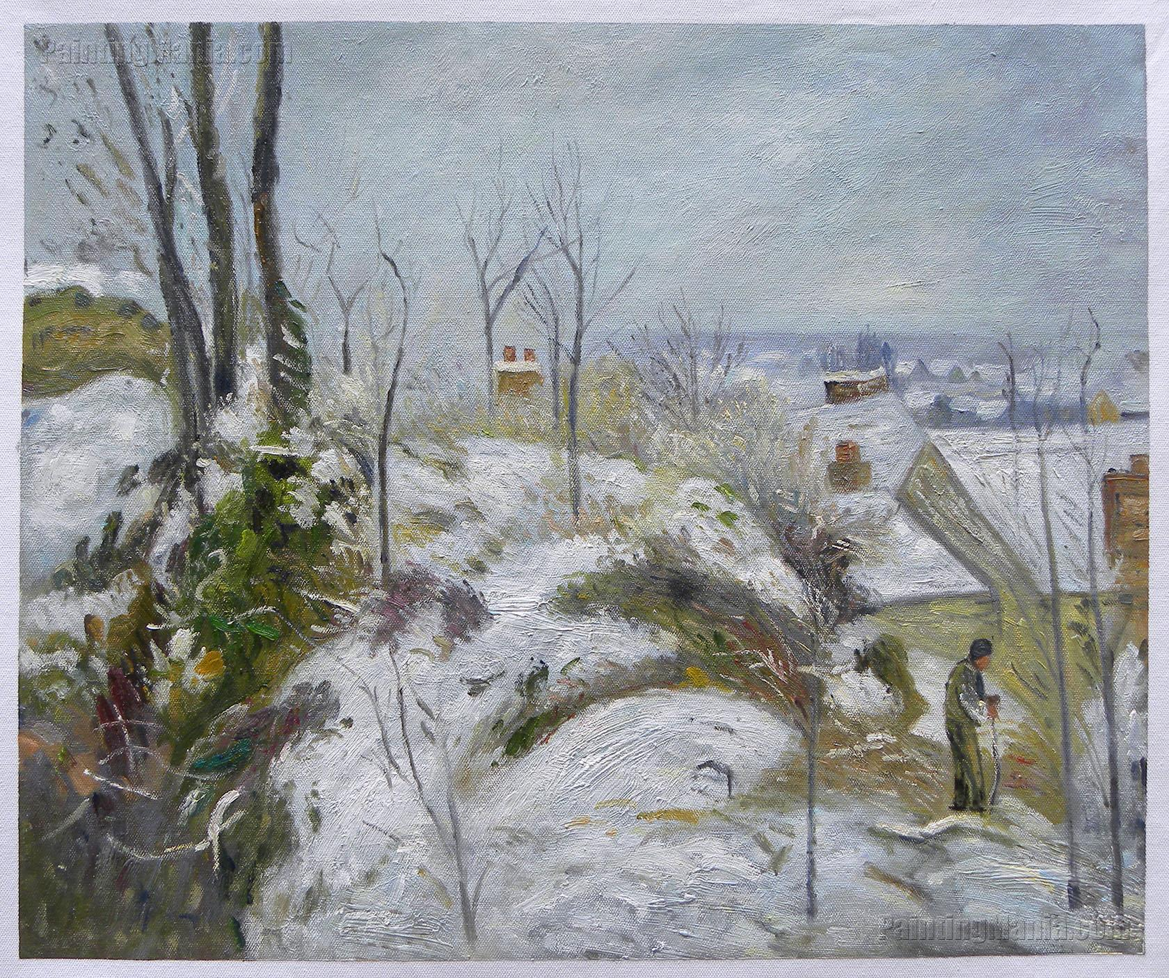 Rabbit Warren at Pontoise, Snow