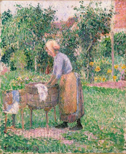 A Washerwoman at Eragny