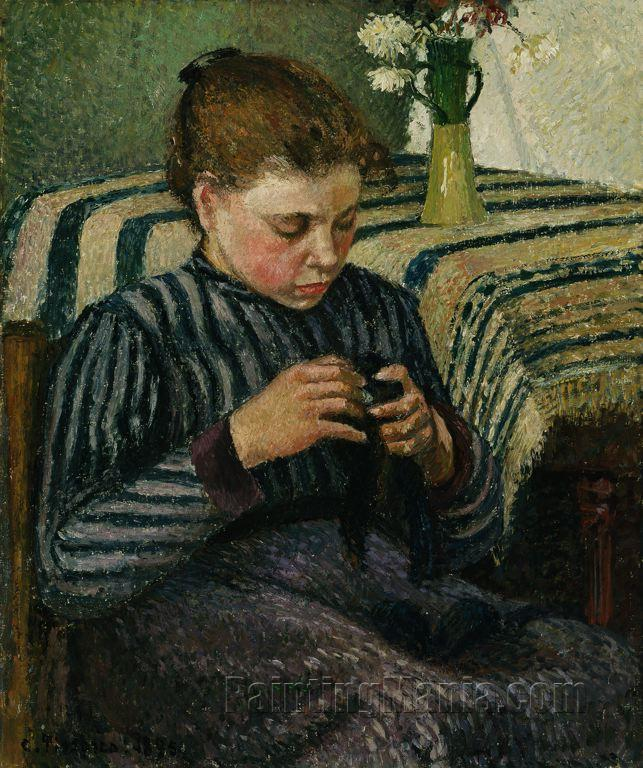 Woman Sewing 1895