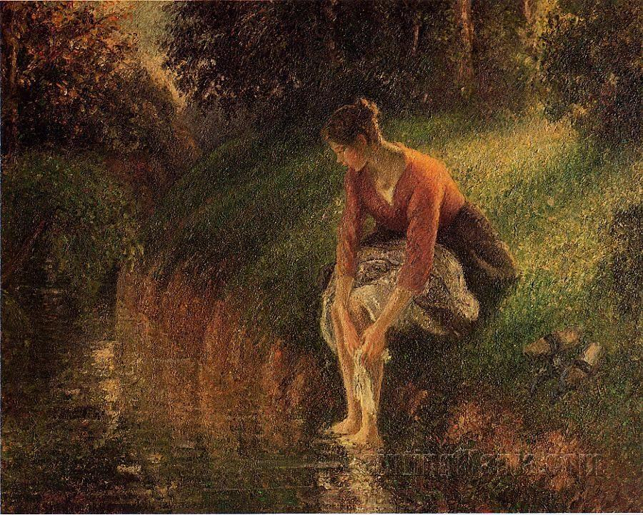 Young Woman Bathing Her Feet (The Foot Bath)