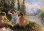 Bathers Seated on the Banks of a River