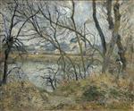 Bords de l'Oise, pres de Pontoise, temps gris