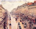 Boulevard Montmartre: Afternoon. in the Rain