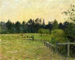 Cowherd in a Field at Eragny